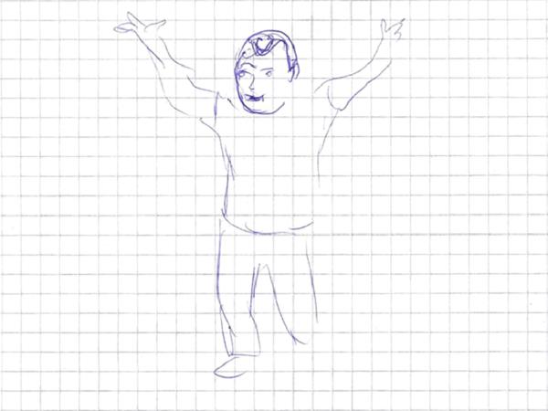 Peter Graham na kresbě Hany Puchové